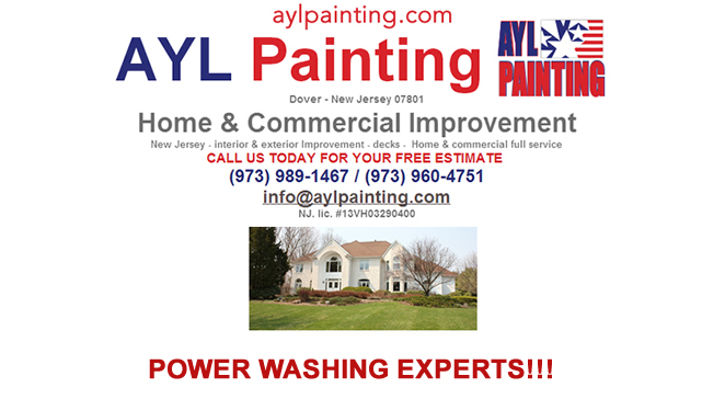 Power Washing Companies Morris County New Jersey - AYL